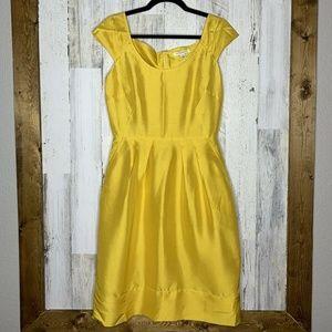 Banana Republic sheath dress gold color silk